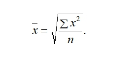 Статистика Формула Средняя квадратическая простая