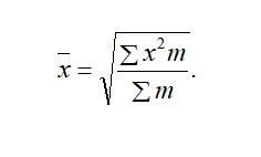 Статистика Формула Средняя квадратическая взвешенная