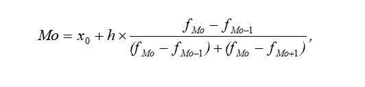 Статистика Формула Мода для интервального ряда