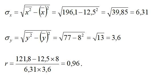 Пример вычисления формула 11.6
